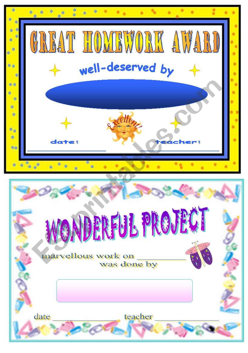 certificates for students worksheet