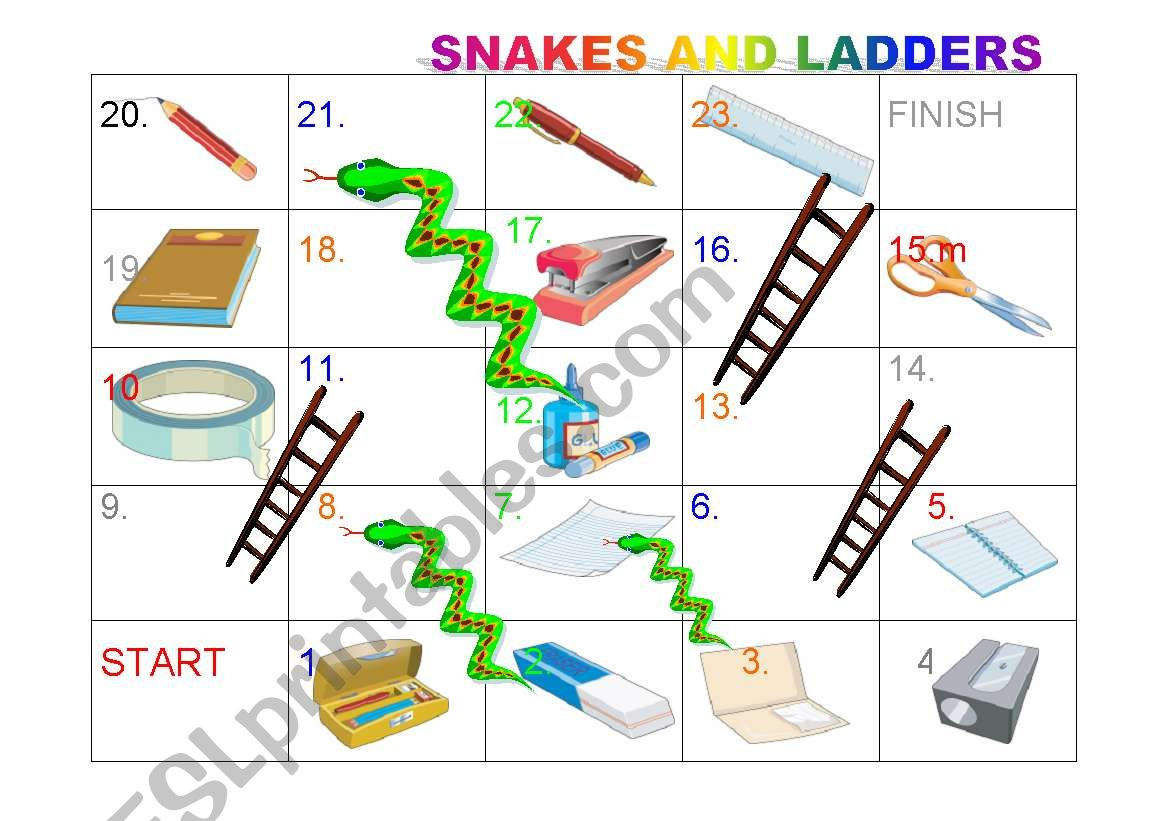 Snakes and Ladders (stationery items)