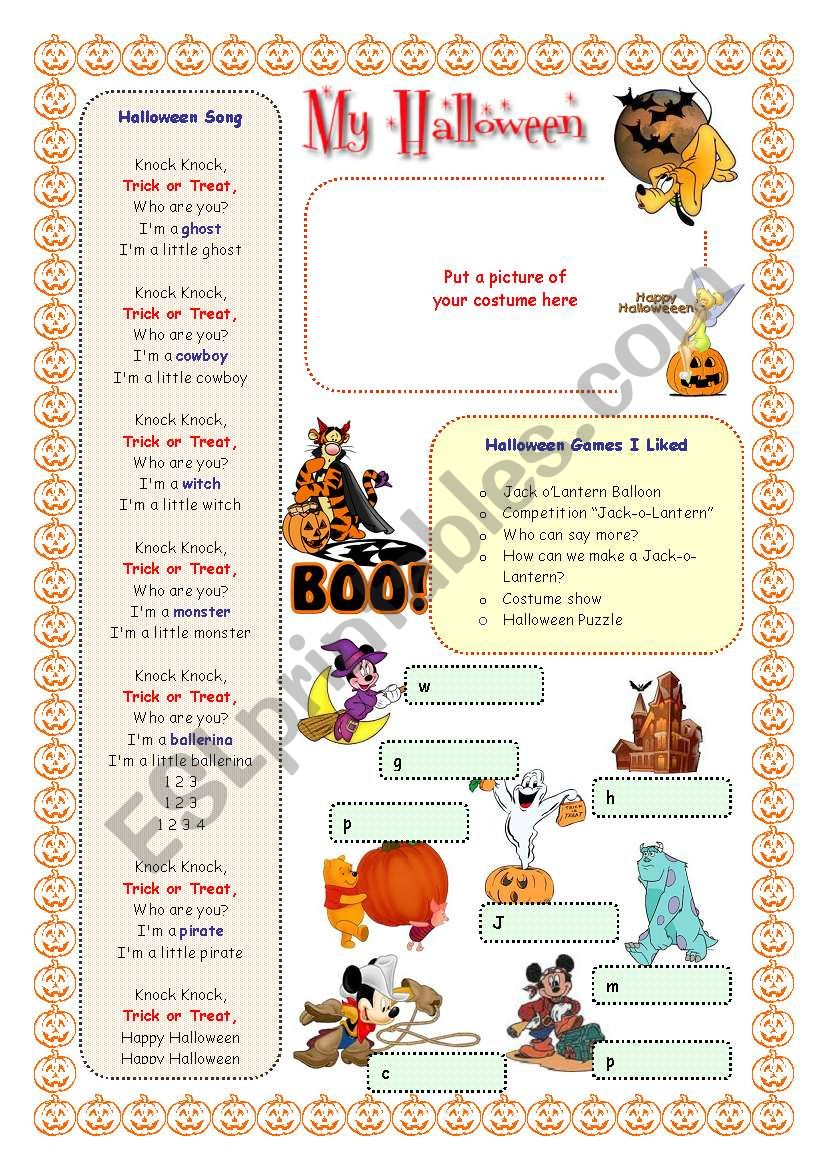 My English Portfolio 20 (My Halloween)