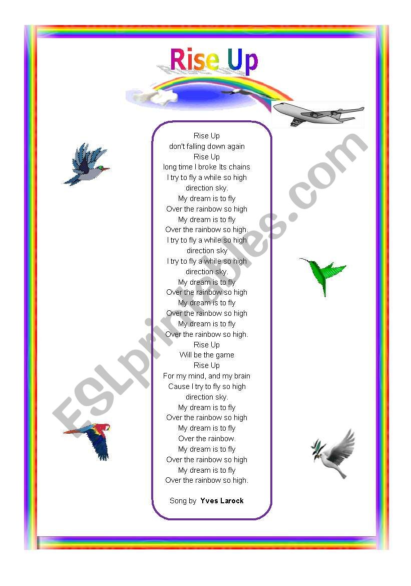 Song: Rise Up worksheet