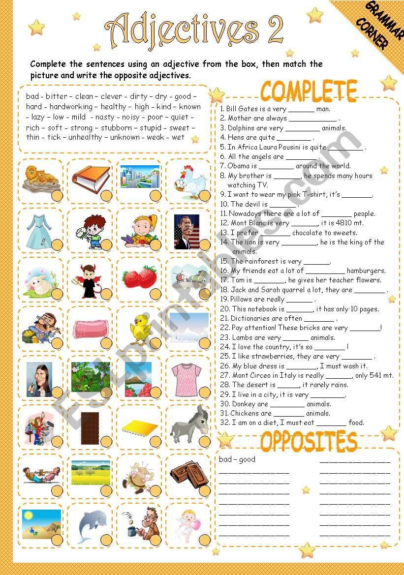 ADJECTIVES 2/2 worksheet