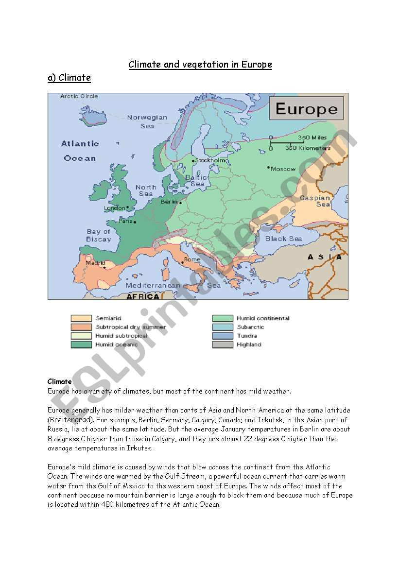 Worksheets Climate Worksheet climate in europe esl worksheet by jaya nar worksheet