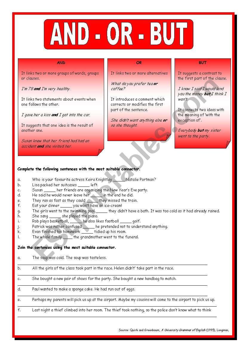 Basic Connectors worksheet