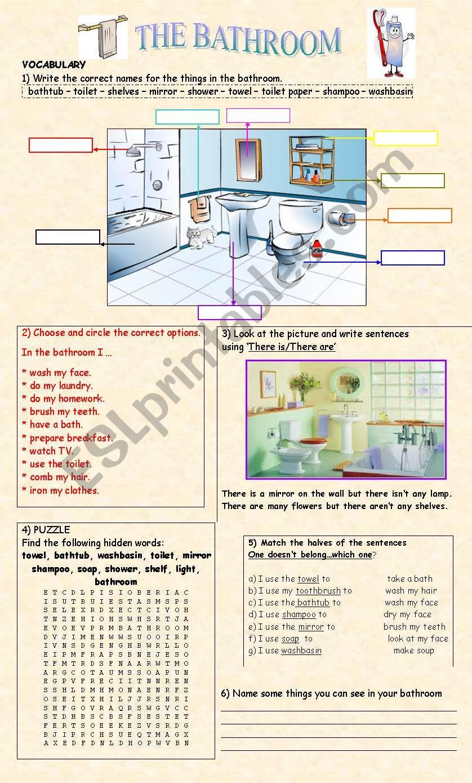 THE BATHROOM worksheet