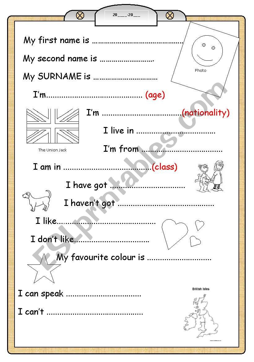 BOOK COVER for young learners worksheet
