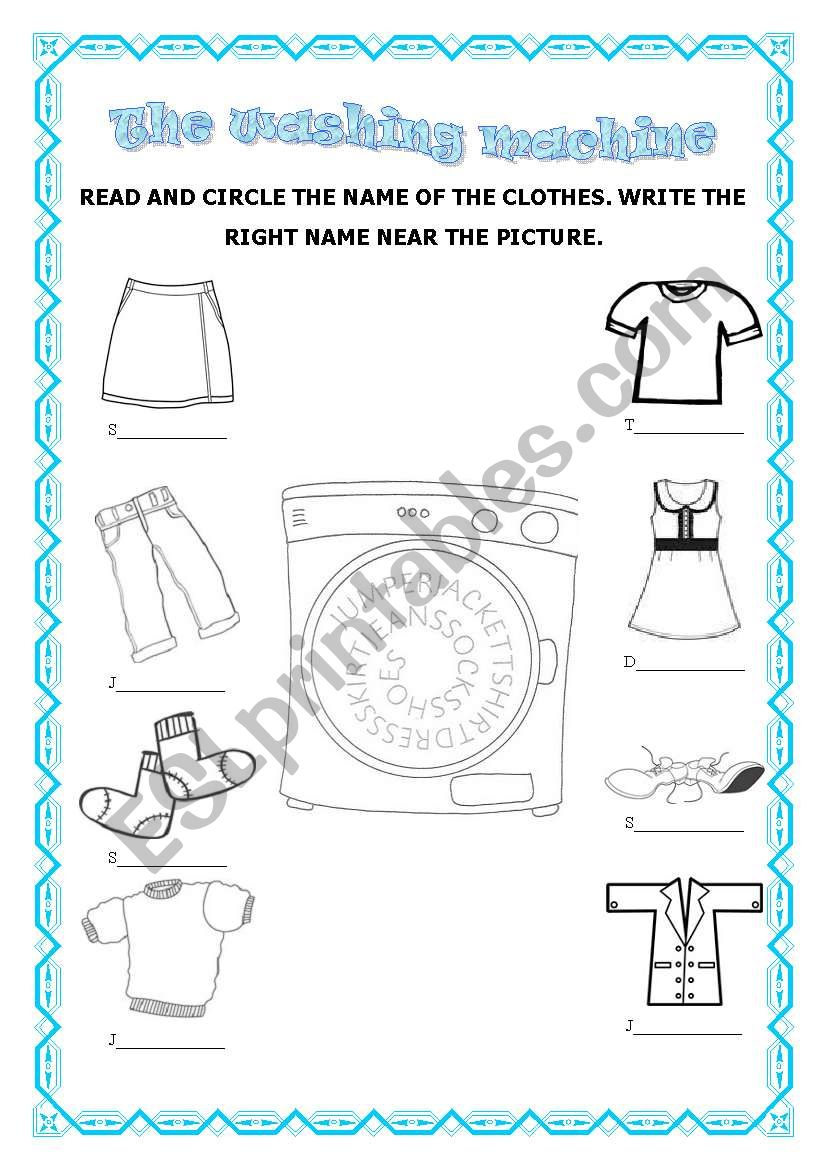 the washing machine esl worksheet by paola81. Black Bedroom Furniture Sets. Home Design Ideas