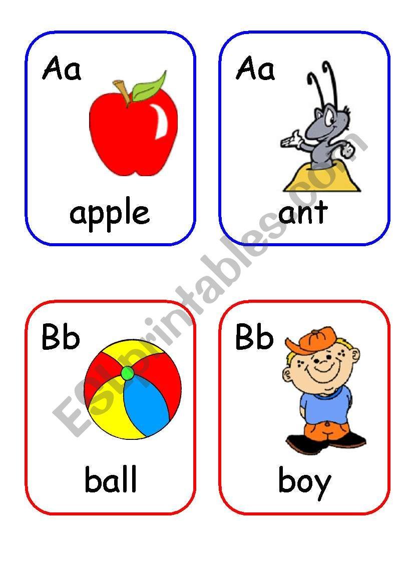 Alphabet words flashcards PART 1