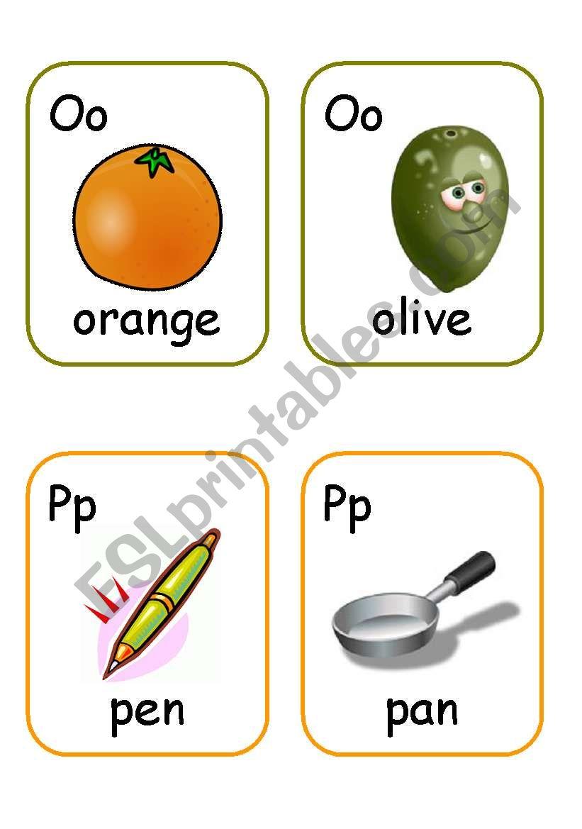 Alphabet flashcards. PART 2 worksheet