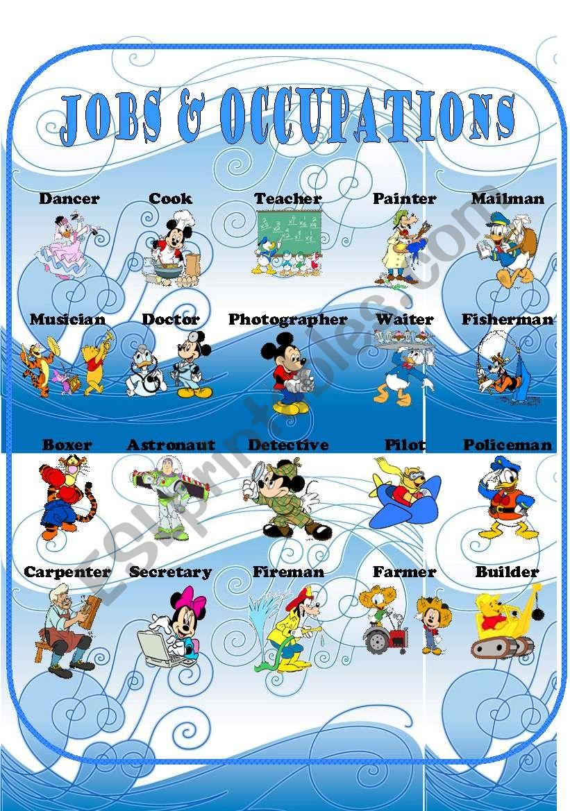 Jobs & Occupations part 1 worksheet