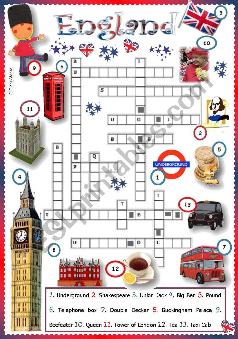 England worksheet