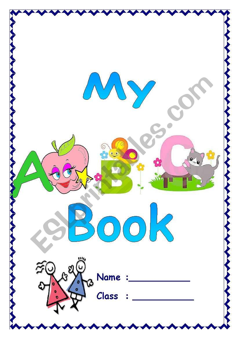 photo regarding Abc Book Printable known as My ABC Reserve - ESL worksheet as a result of htaraf