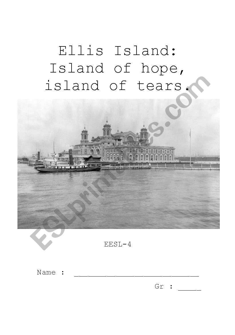 Ellis Island Project Part 1 worksheet