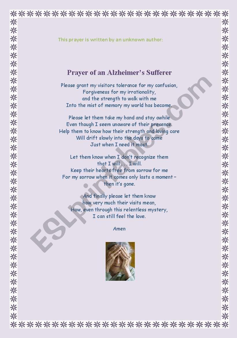 A glimpse of hope - Alzheimer breakthrough - ESL worksheet