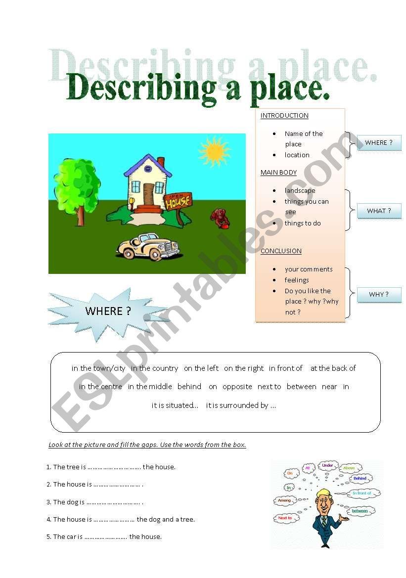 describing a place esl worksheet by maja o. Black Bedroom Furniture Sets. Home Design Ideas