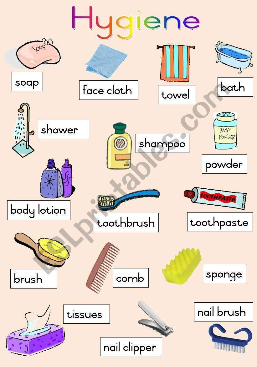 Hygiene Poster worksheet