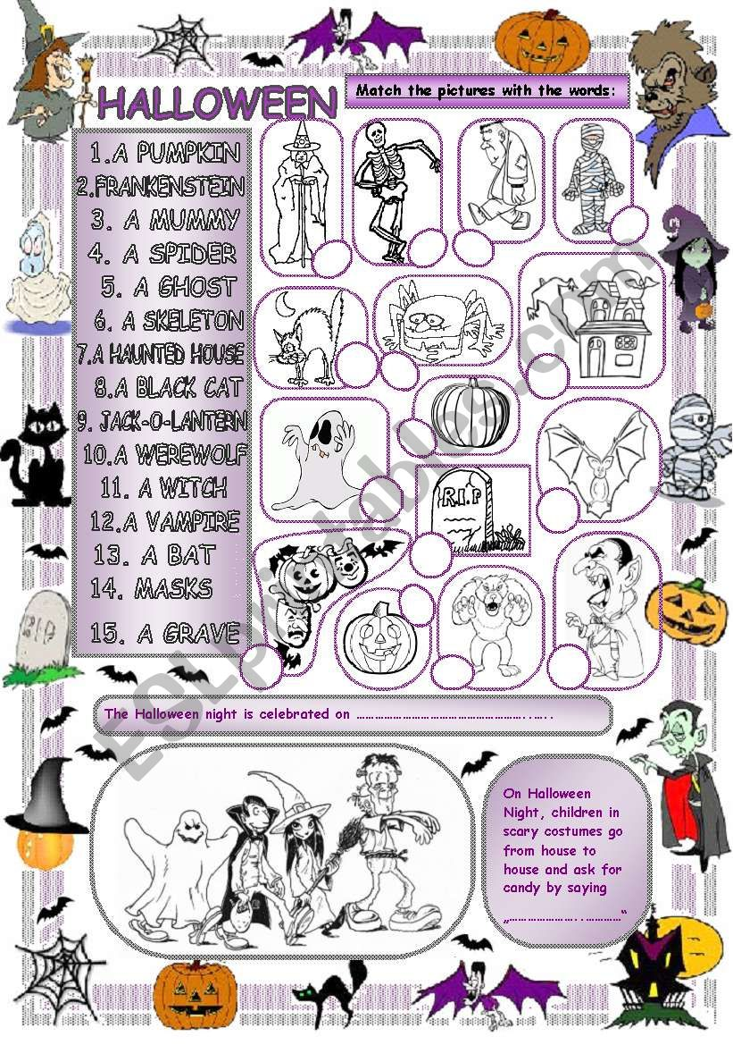 Elementary Vocabulary Series16 - Halloween