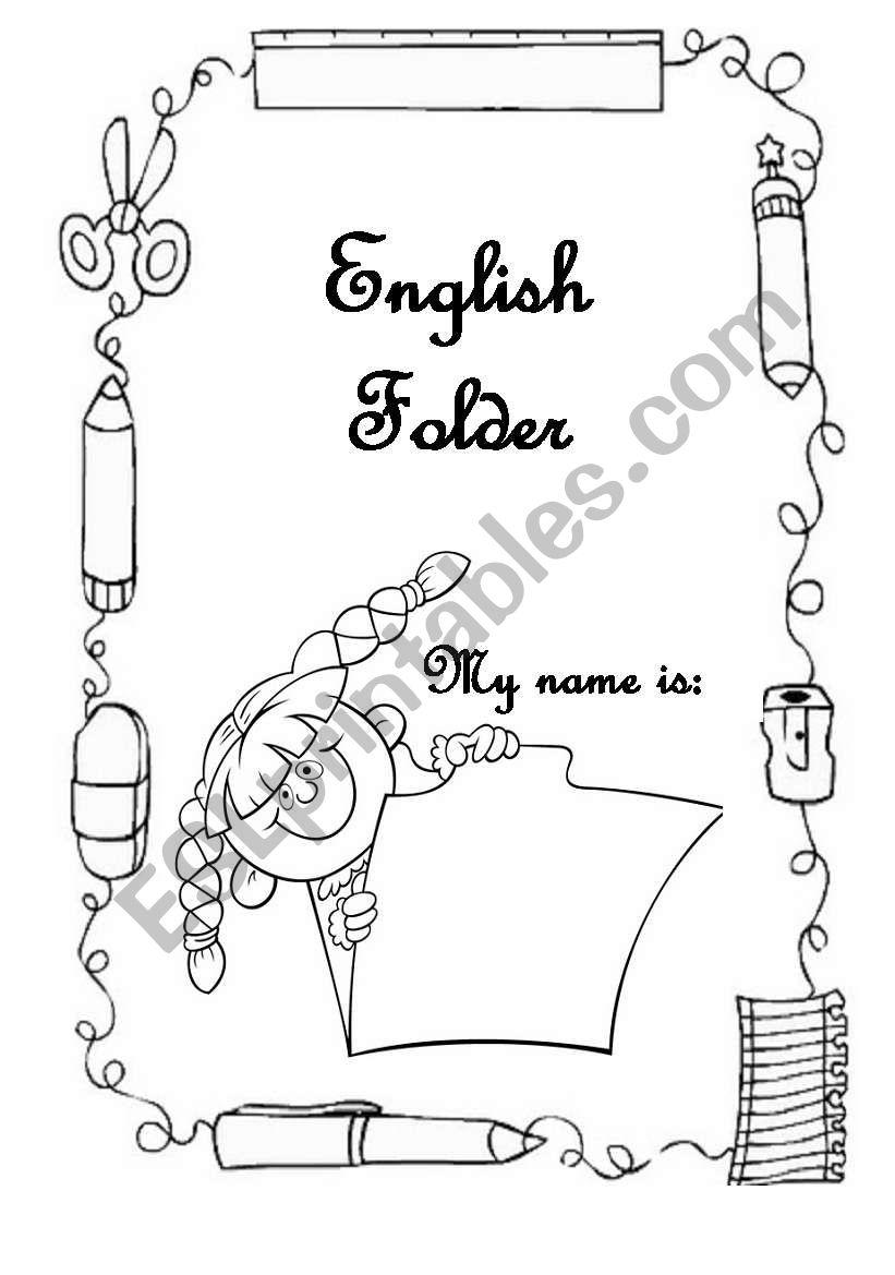 Cover for the English portfolio/folder