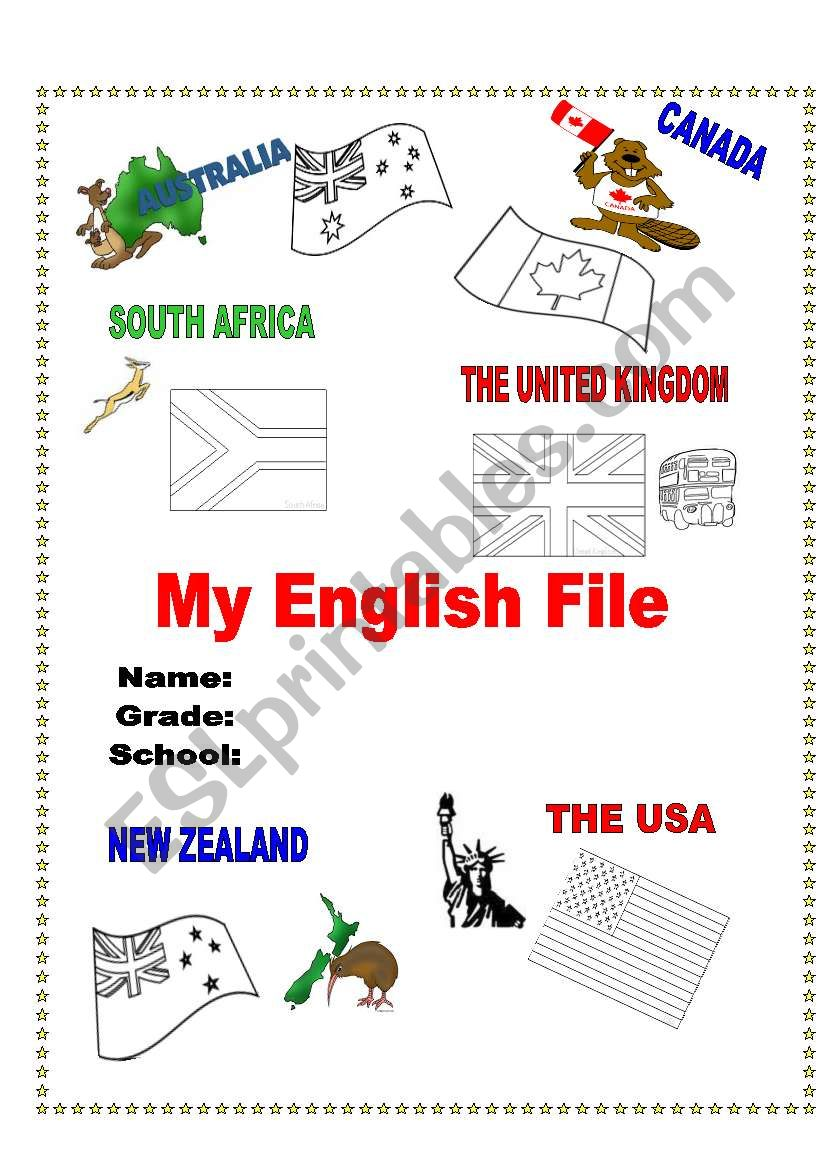 My English File Cover worksheet