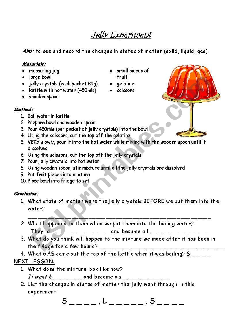 Changes in states of matter - ESL worksheet by ivd_25 Regarding States Of Matter Worksheet Pdf