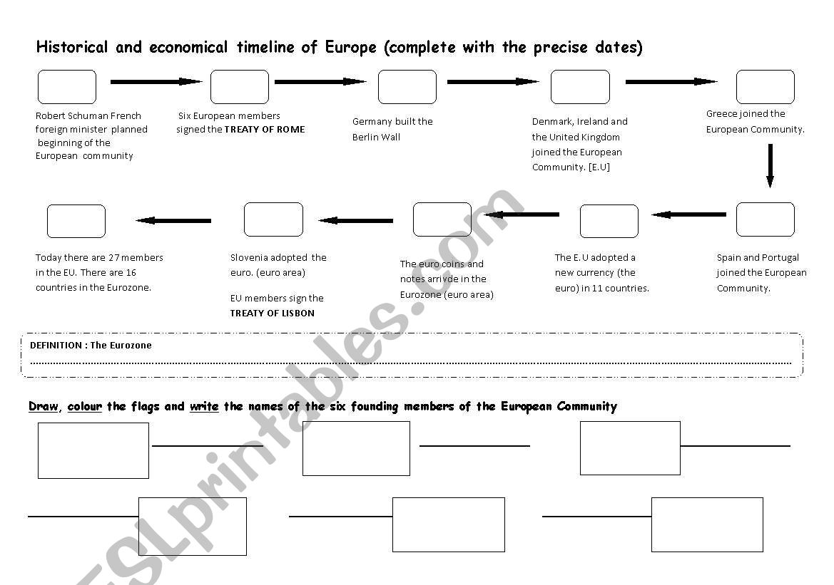 EUROPE DAY May 9th worksheet