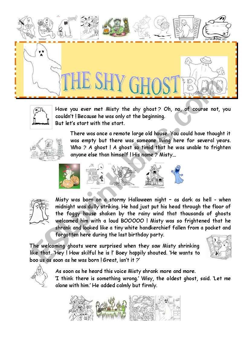 a newborn ghost : so timid ! - a Halloween tale  - ESL