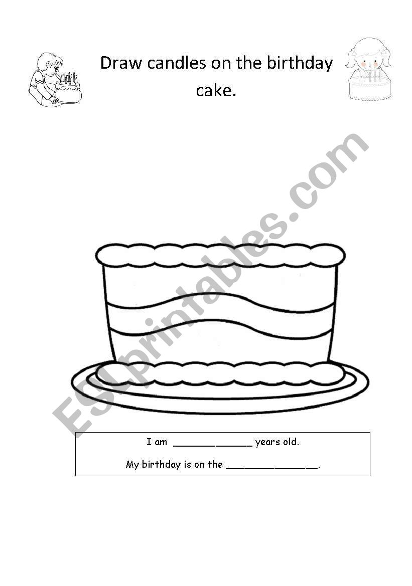 birthday cake esl worksheet by mags2003. Black Bedroom Furniture Sets. Home Design Ideas