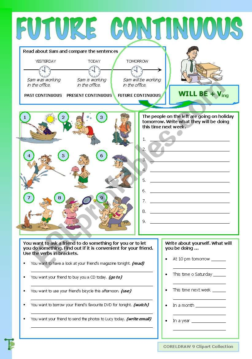Future Continuous worksheet