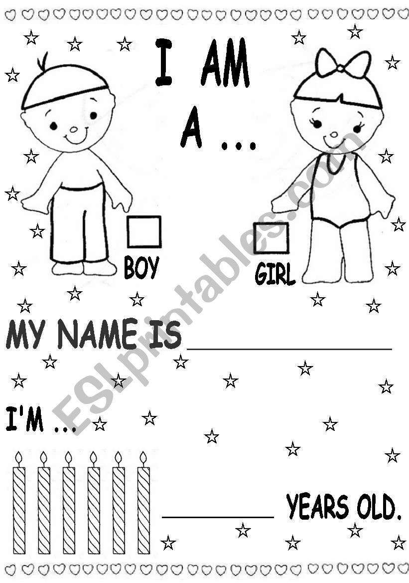kinder students worksheet