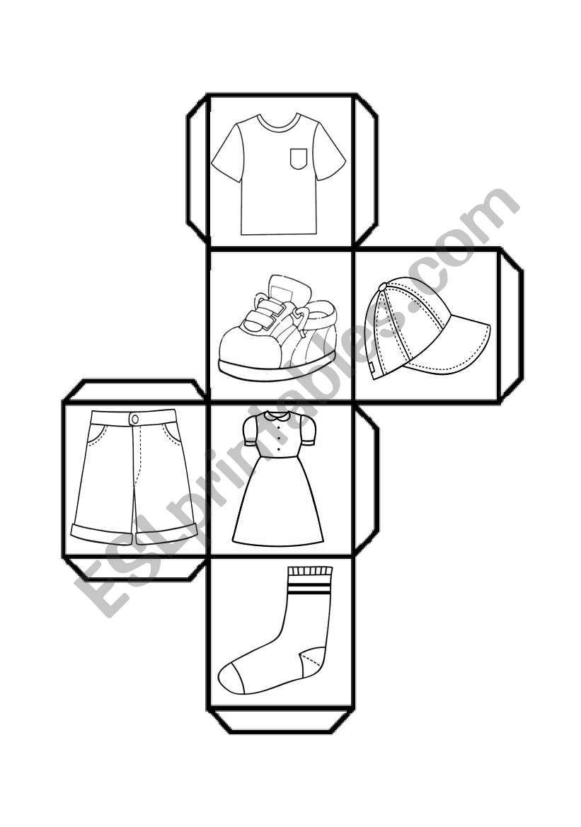 dice clothes worksheet