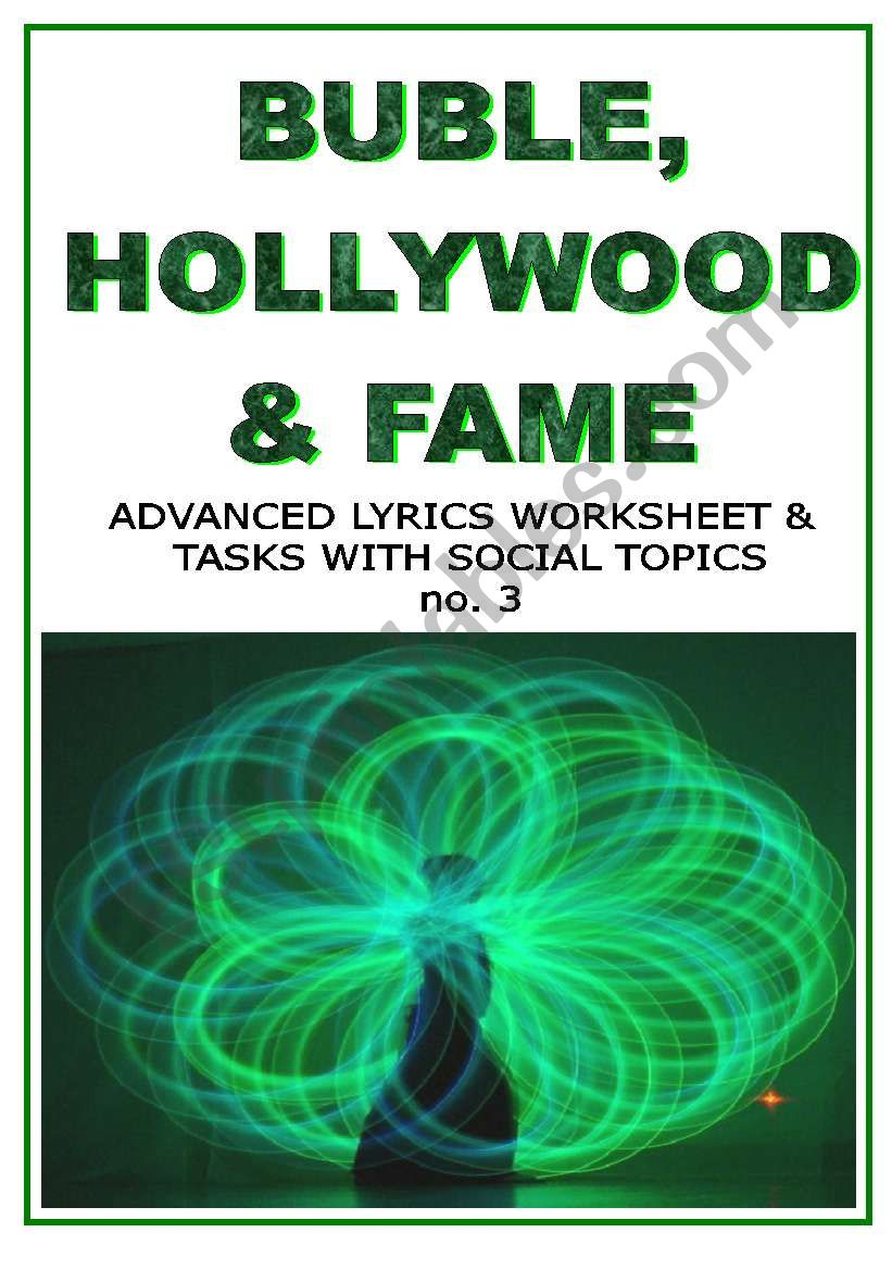 BUBLE, HOLLYWOOD & FAME worksheet