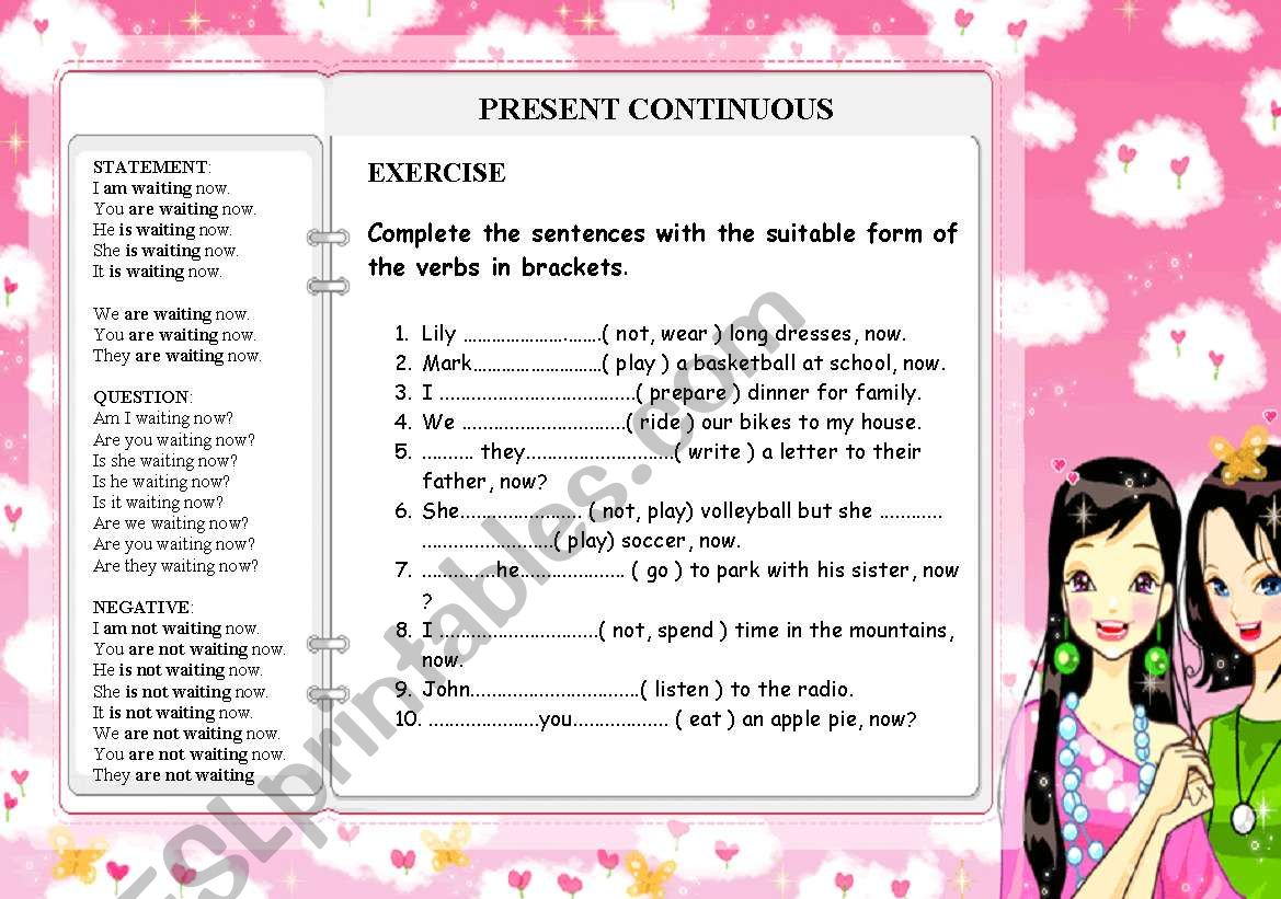 PRESENT CONTINUOUS  - for the beginners TENSES PART 1
