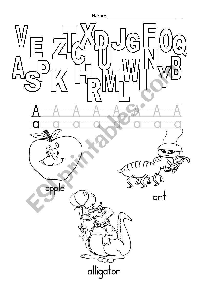 A letter worksheet worksheet