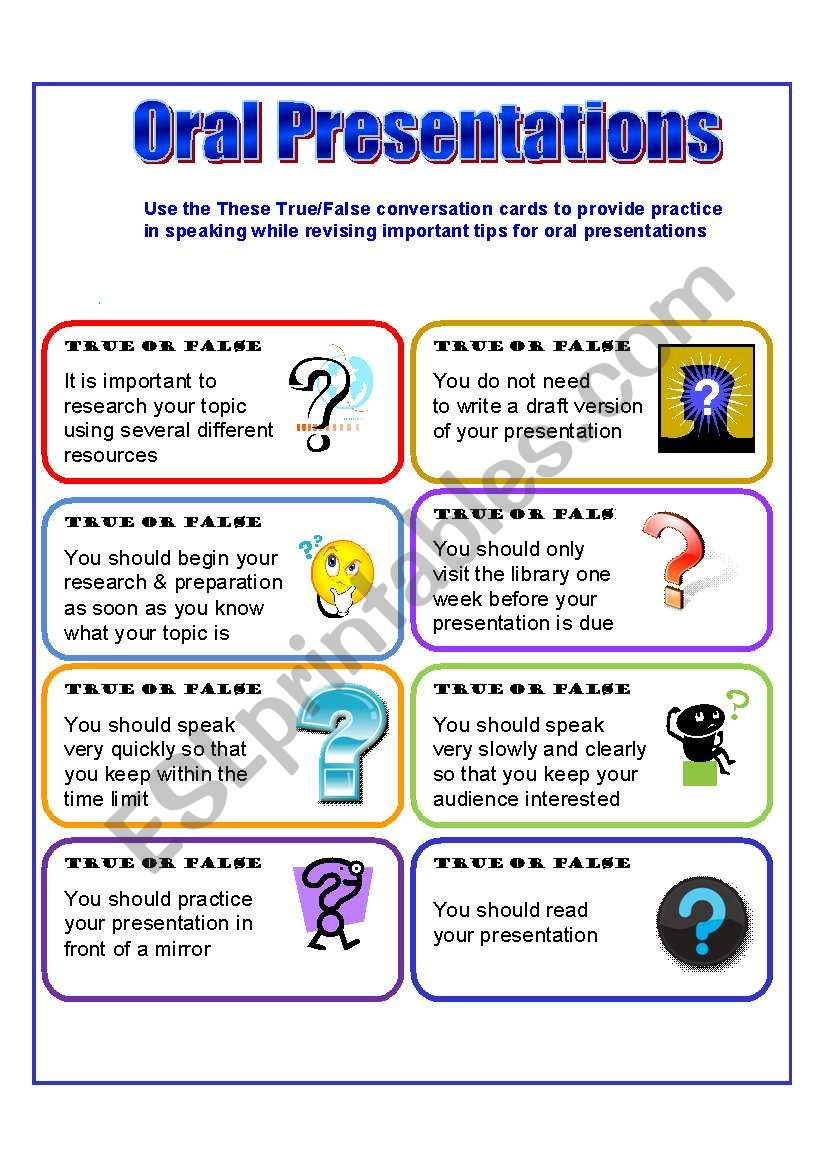 Conversation Cards  worksheet