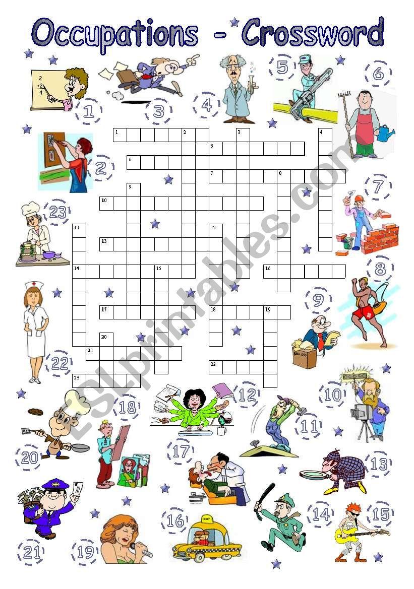 Occupations - Crossword worksheet