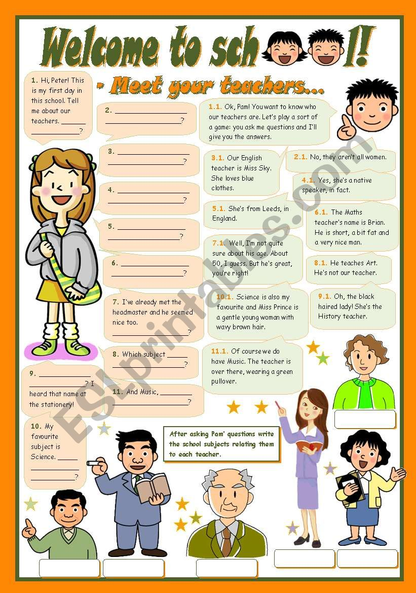 WELCOME TO SCHOOL! - Meet your teachers