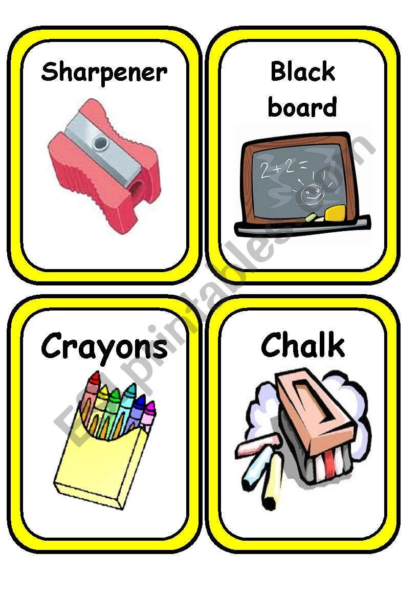 School Stuff Flashcards (updated)