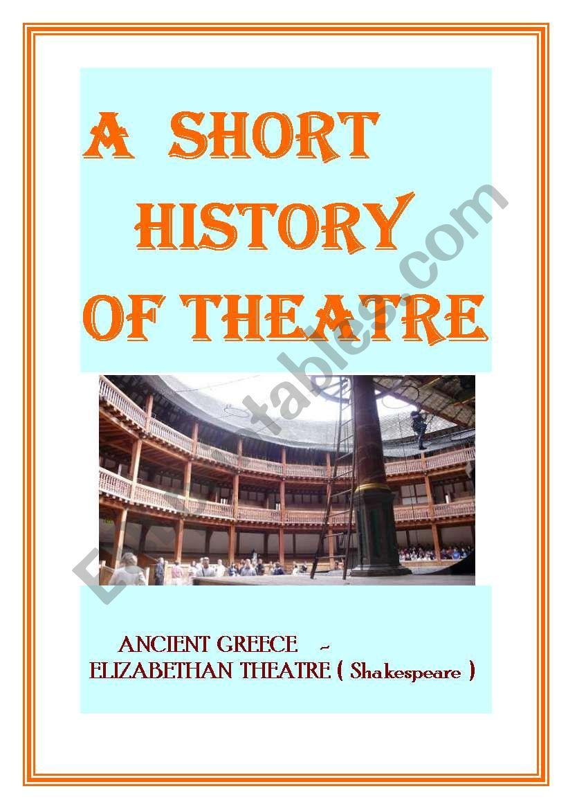 Simplified history of theatre worksheet