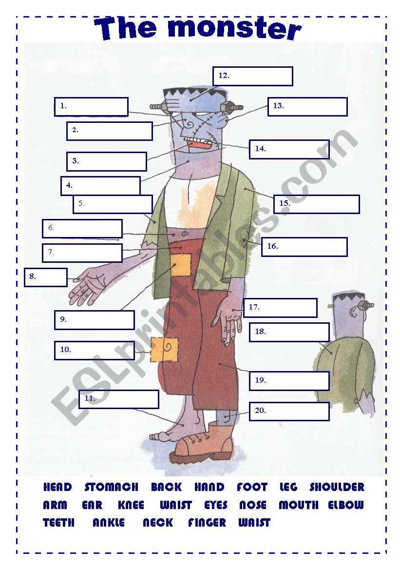 The monster worksheet