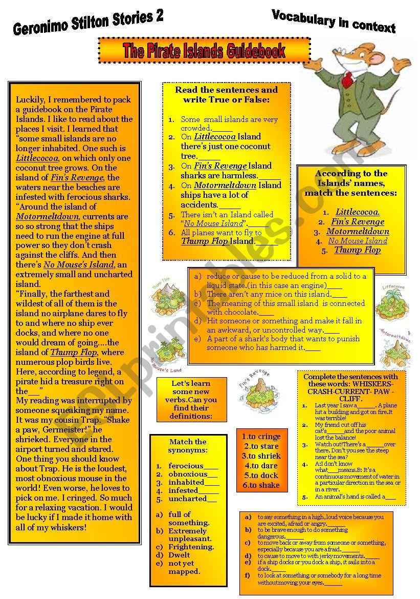 Geronimo Stilton Stories2. worksheet