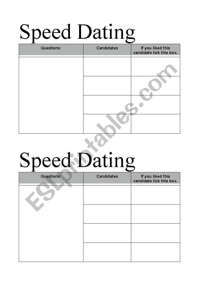Hastighet dating ESL