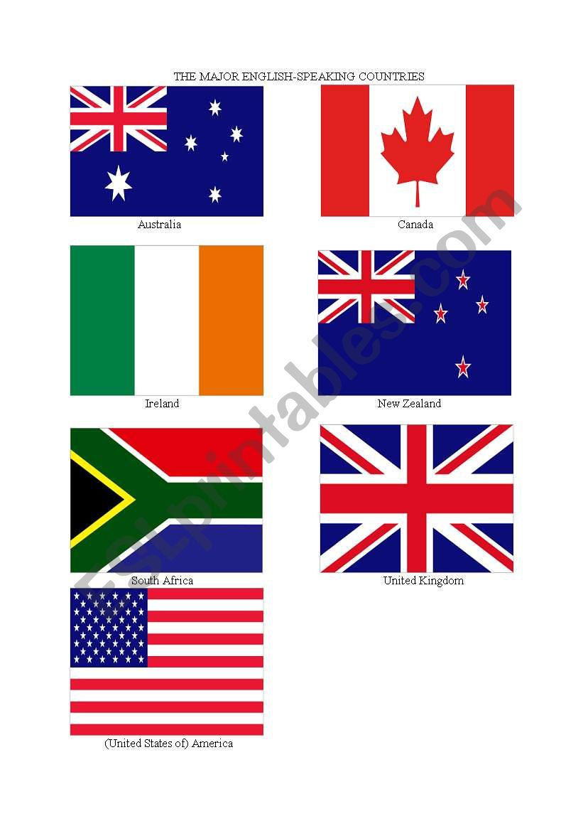 English Speaking Countries Flags - Best Picture Of Flag ...