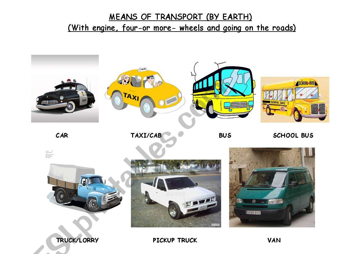 THE MEANS OF TRANSPORT (BY EARTH -B-)
