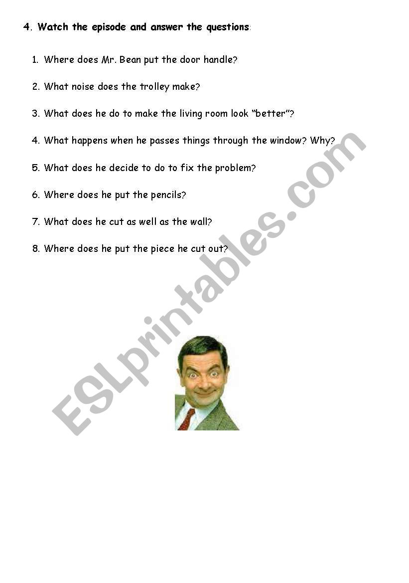 English worksheets mr bean series do it yourself video session solutioingenieria Image collections