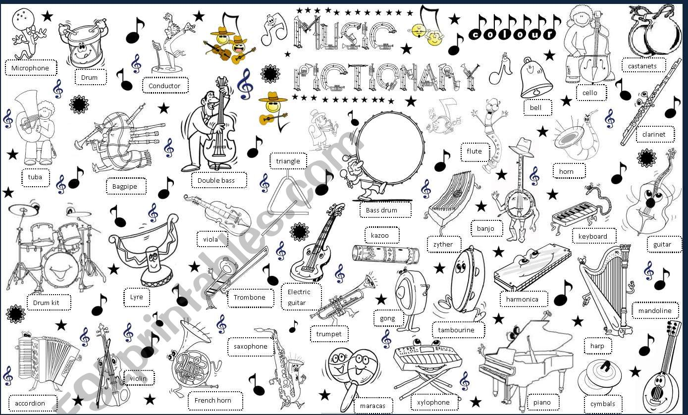 music pictionary worksheet