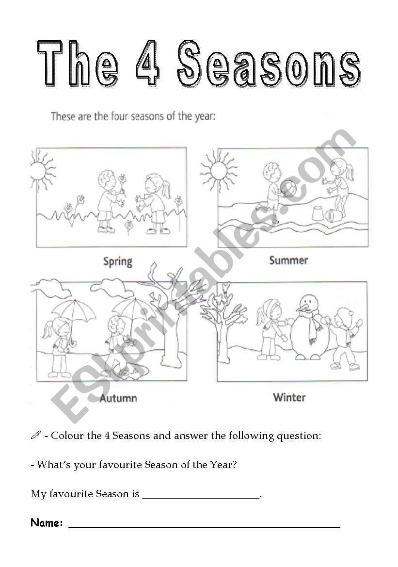 the 4 seasons of the year esl worksheet by santosnuno. Black Bedroom Furniture Sets. Home Design Ideas