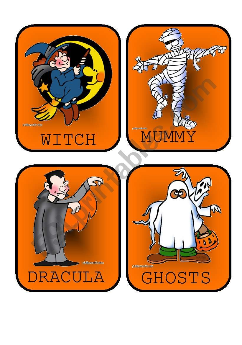 Halloween Flashcards - Vocabulary