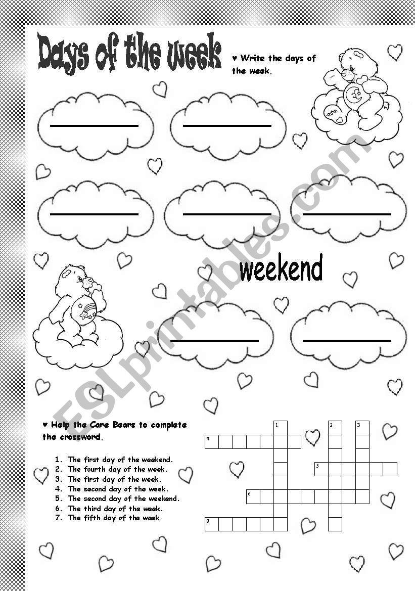 days of the week - ESL worksheet by soledad_grosso