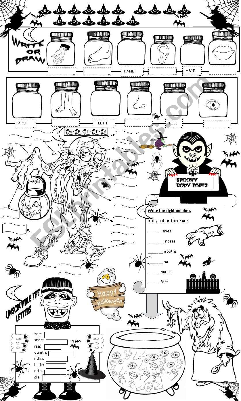 SPOOKY BODY POTION worksheet