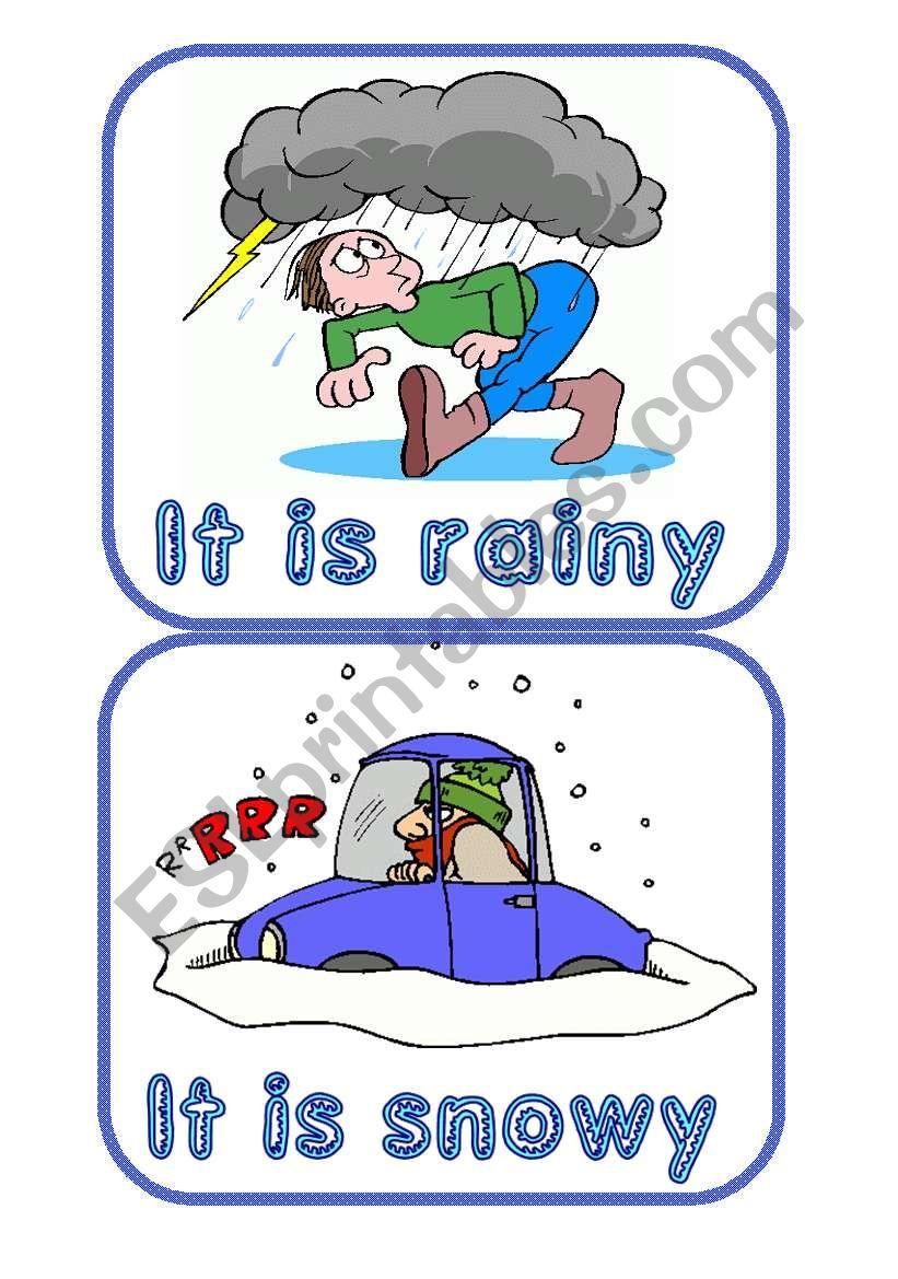 Weather flashcards worksheet