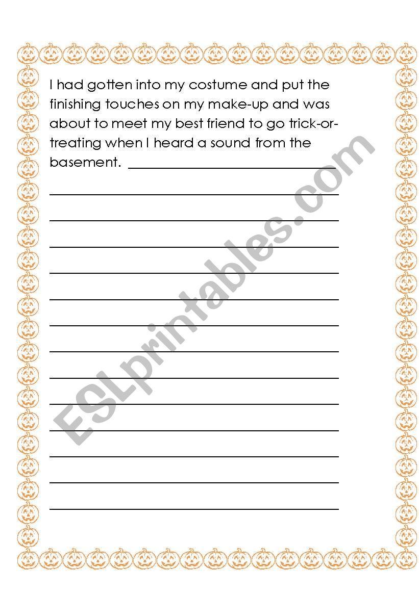 Halloween Story Starters worksheet